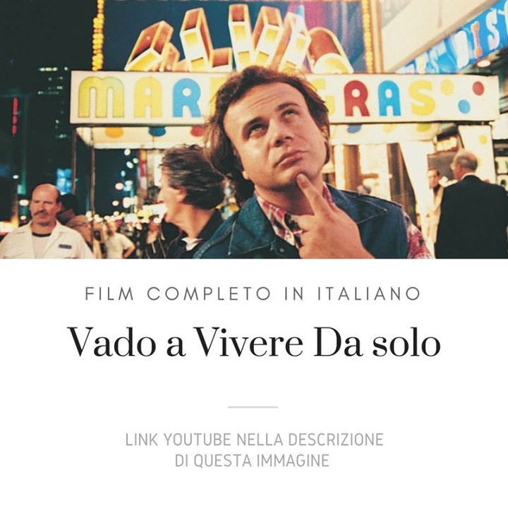 Vado A Vivere Da Solo [Film Completo]: https://www.youtube.com/watch?v=bXMmkA2aRMM&list=PLXaYyxQb69ea3Pey-WsqT1_cT_QxLxahU #Film #FilmCompleti #Documentari