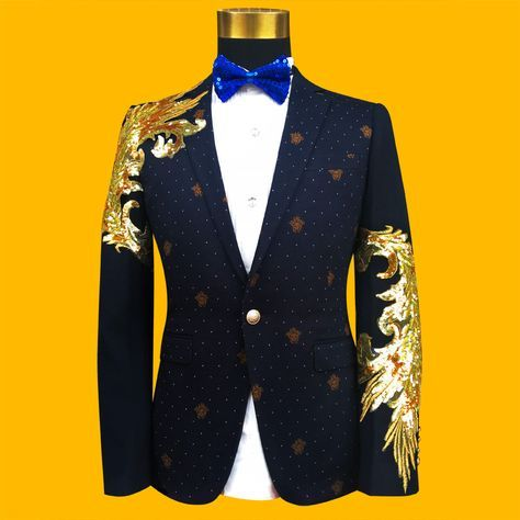 Cheap mens formal suit, Buy Quality sequin men directly from China fashion suit Suppliers: 2017 Newest Gold Sequined Mens Formal Suit Jacket Blazer Fashion Gold Paillette Embroidered Performance Party Prom Blazers Mens