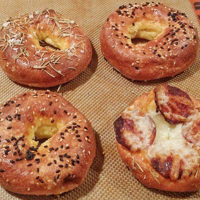Keto Breakfast Bagels Yum! Recipes here - http://keto-recipes.com/keto-breakfast-bagels/