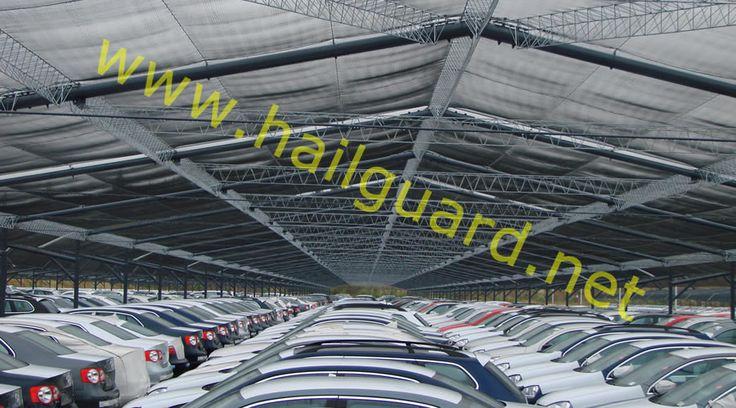 SOLNET - Protección AntiGranizo, Estructuras y malla para protección de vehiculos terminados