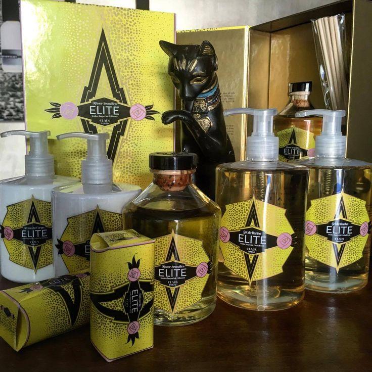 #elite #clausporto #portugal #roomdiffuser #showergel #bodycream #soaps #rosinaperfumery #mykonos #glyfada #athens #greece #cat #egypt #tonka #love #scent #powdery  Shop online: www.rosinaperfumery.com