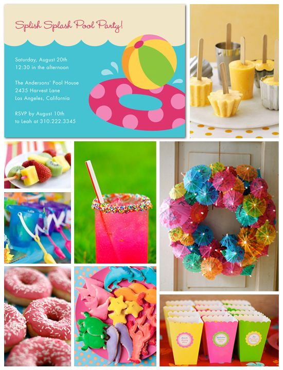 Pool Party Inspiration Board Birthdays Summer And