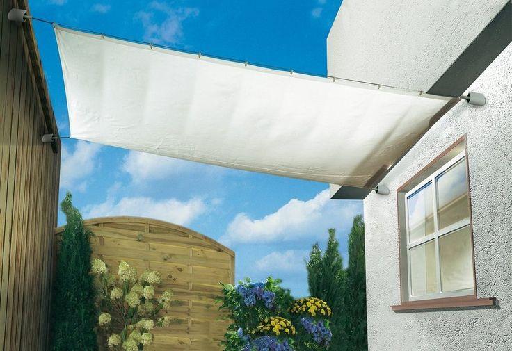 Sonnensegel , elfenbeinfarben, in 3 verschiedenen Längen ab 44,99€. Aus Polyester, Geeignet für Seilspanntechnik, Inkl. Laufhaken bei OTTO