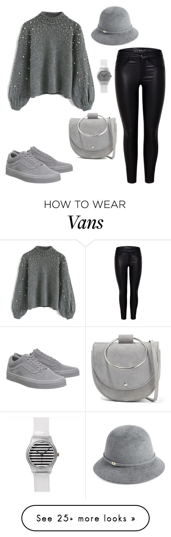 """Untitled #179"" by mmmmrrrr on Polyvore featuring Chicwish, Helen Kaminski, Vans and Theory"