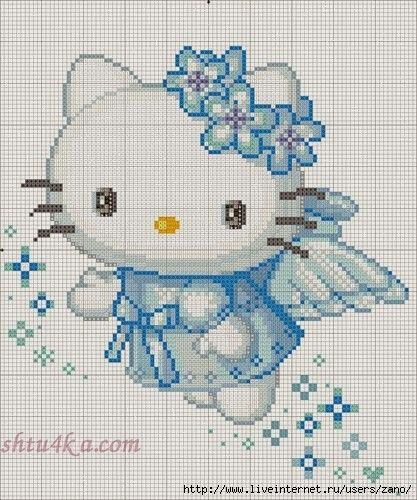 Hello Kitty fairy cross stitch.
