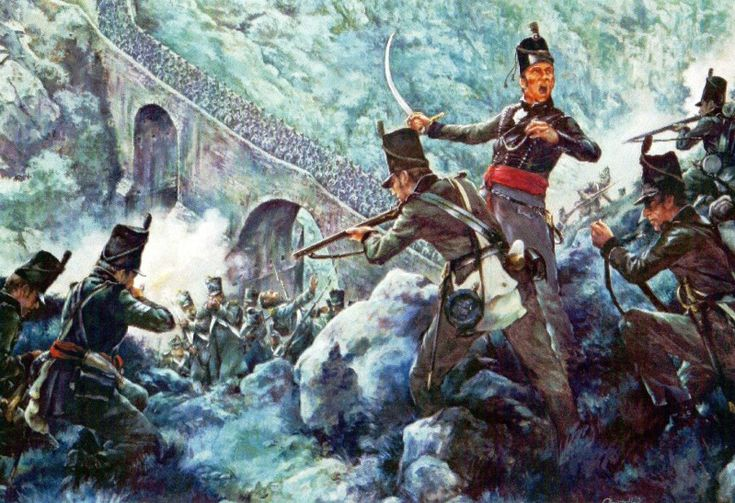 French night attack on the 1st/95th Rifles Barba del Puerco, 19th March 1810.