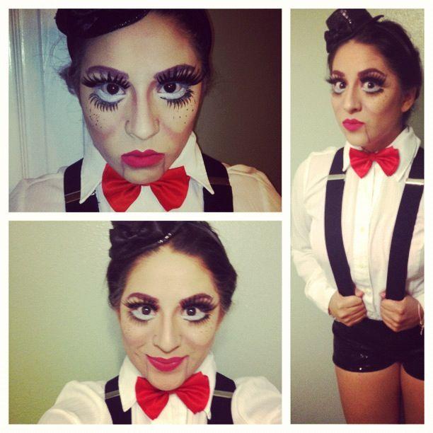 Ventriloquist dummy costume idea!
