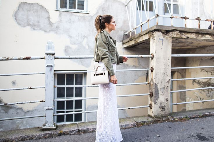 lace dress, maria kurki bag, army jacket, flow festival 2016