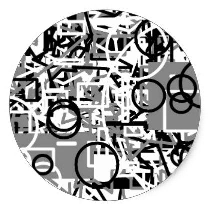 abstract template classic round sticker  $5.10  by DawnOfANewDay  - cyo customize personalize unique diy