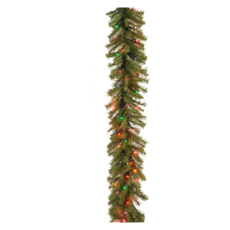 9 ft. Norwood Fir Pre-Lit Garland - Mutli-Colored - NF-9BRLO-1