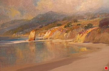 The Endless Shore by F. Michael Wood Oil ~  x