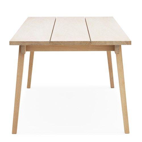 Slice matbord - Slice matbord - ek såpa, 3-delad skiva