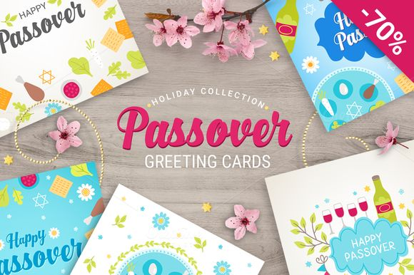 8 Passover Greeting Cards by miumiu on @creativemarket