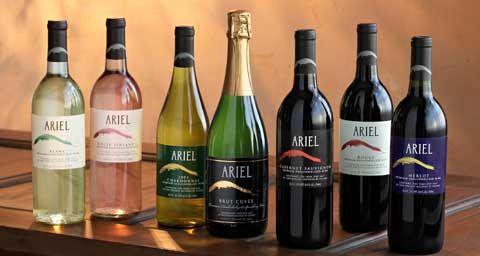 Ariel non alcoholic wines: Blanc, Rouge, White Zinfandel, Brut Cuvee, Chardonnay, Merlot, Cabernet Sauvignon. ClearMind : Premium De-Alcohol...