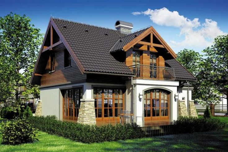 Fachada de casa rustica y bonita calabaza de papel - Fachadas rusticas ...
