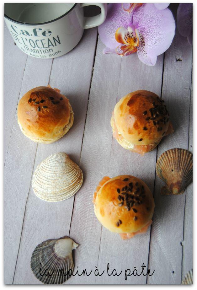 mini burgers au saumon fumé et fromage ail et fines herbes