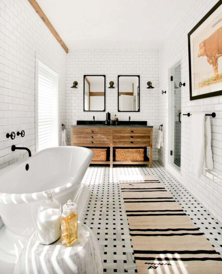 Best 25 subway tile bathrooms ideas on pinterest white subway tile shower washroom and - Nice subway tile bathroom designs with tips ...