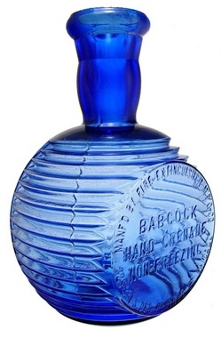 Babcock Hand Grenade Non-Freezing, Blue, 8 inch.A Babcock Hand Grenade bottle in blue