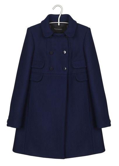 Manteau Trapèze En Drap Caban Bleu Tara Jarmon pour femme sur Place des…