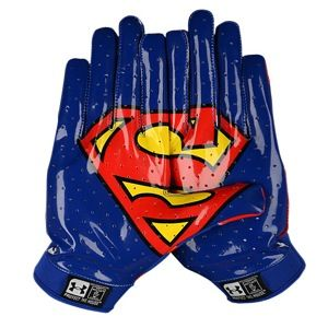 Under Armour F4 Super Hero Football Gloves - Superman