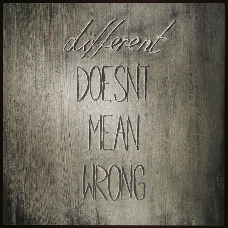 #original #quotes #art - Different doesn't mean wrong