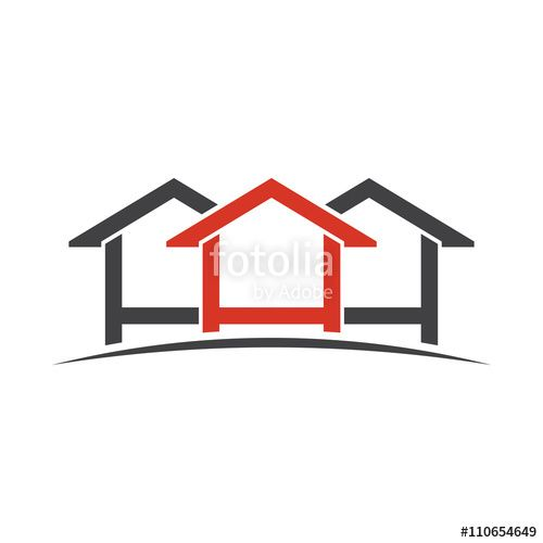 Houses Logo Design. Vector Graphic