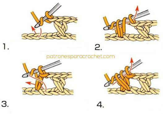 Cómo tejer media vareta cruzada