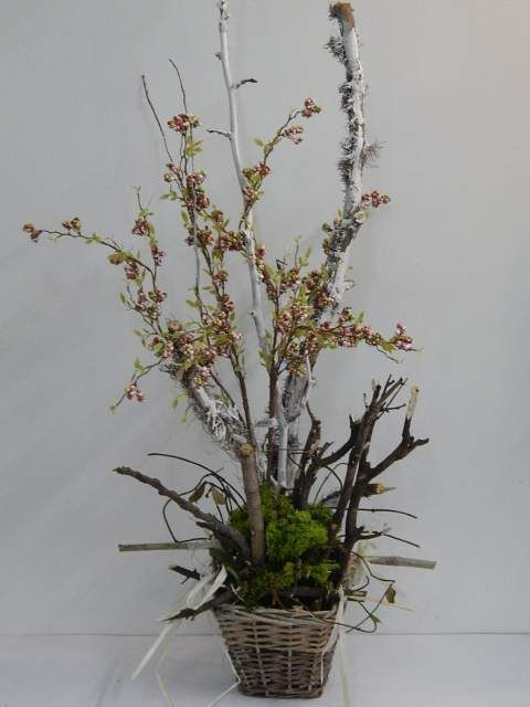 Composizione floreale con fiori secchi shabby chic