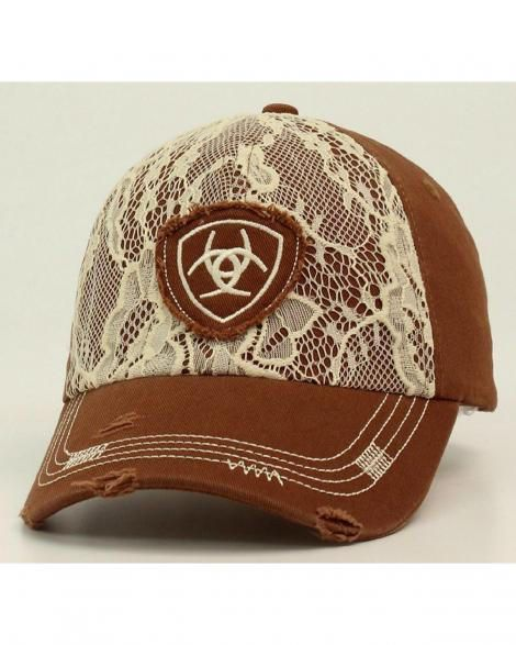 Ariat Lace Brown Cap from Longhorn Western Wear. Shop more products from Longhorn Western Wear on Wanelo.