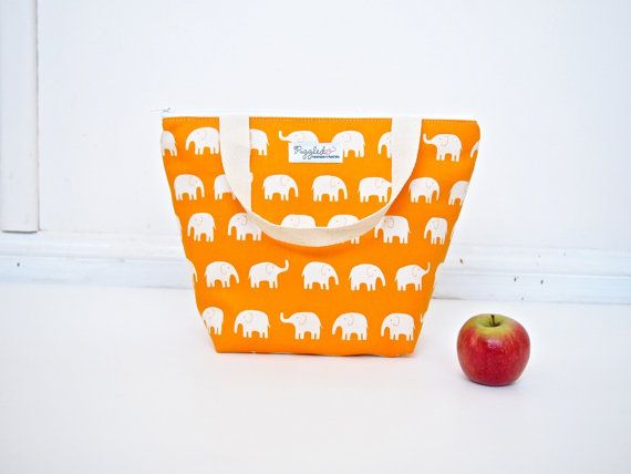 Choose Your Color  Insulated Lunch Tote Bag with by piggledee, $35.00
