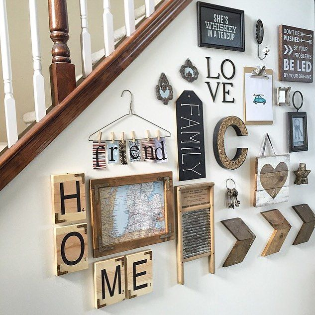 Some of my sweet friends want to see how we use maps/globes in our home decor, so I couldn't pass up posting my @artbykelly wood Michigan map ❤️ Kelly has created most of the rustic wood pieces you see on my gallery wall (Scrabble tiles, wood map, chevron arrows, heart sign) & I smile at this wall every time I walk by