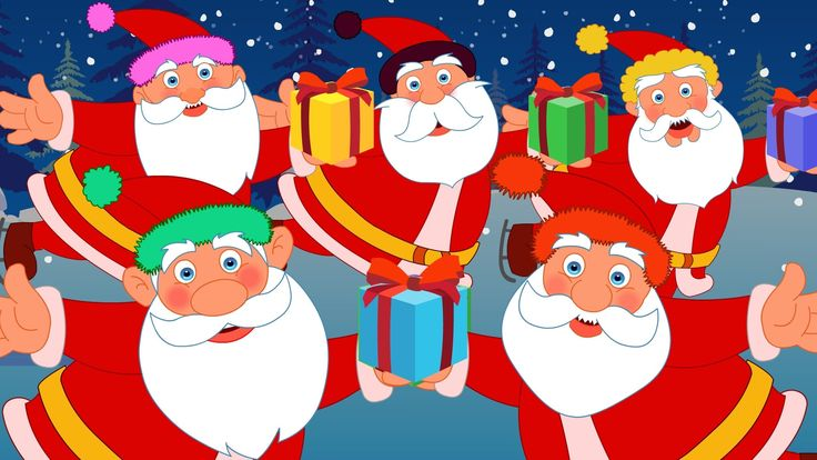 Five Fat Santas | Five Little Santas | Christmas Songs | Nursery Rhymes