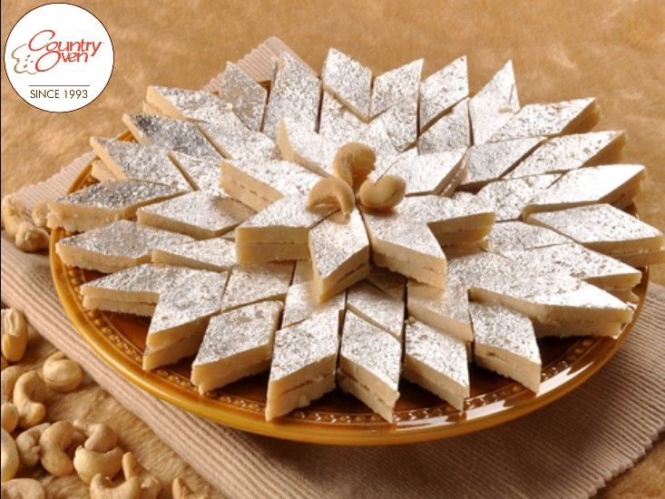 """""""Celebrate your special #occasions with the delicious #IndianSweets. Order #cashewburfi online @ www.countryoven.com."""""""