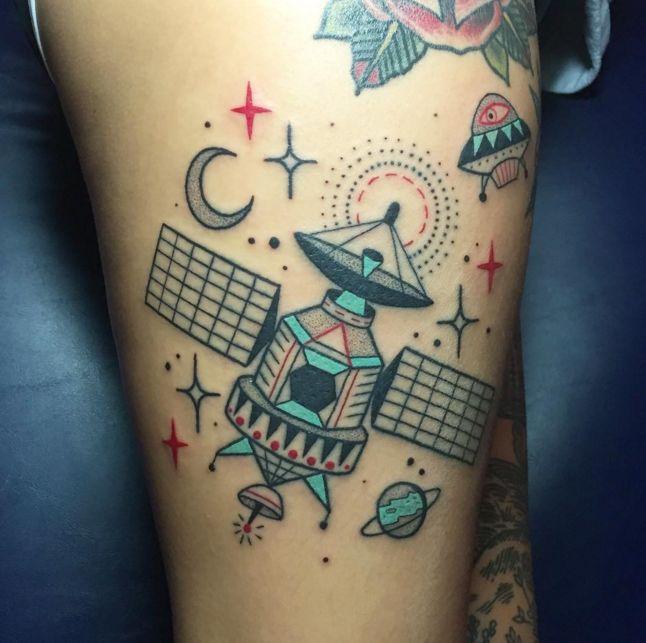 10 Awesome Satellite Tattoos