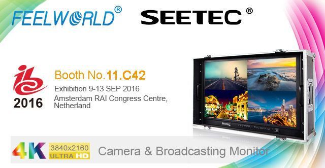 Tomorrow FEELWORLD & SEETEC will attend IBC Show, during SEP.9-13.2016, welcome to visit our booth: 11.C42. www.feelworld.cn www.seetec.cn
