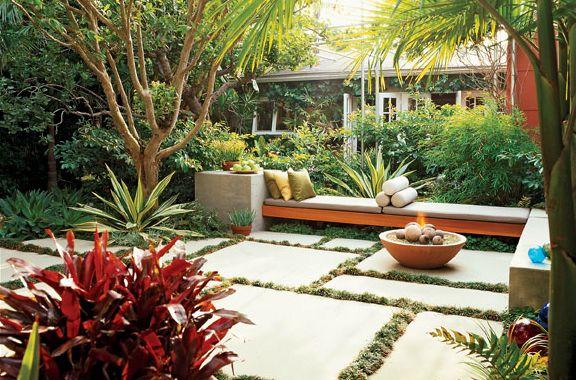modern tropical landscape