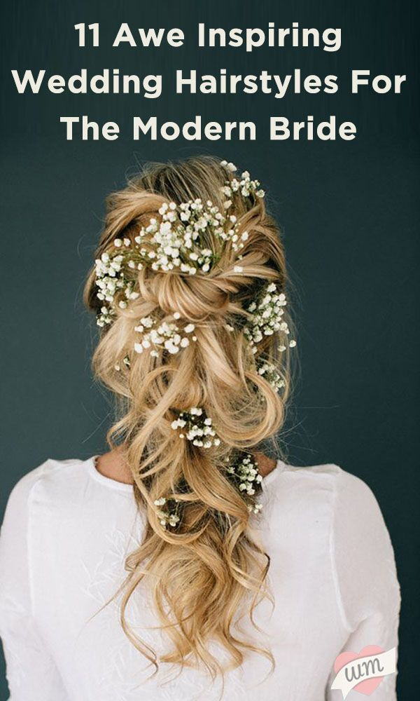 From rustic to romantic, these trendy wedding hairstyles look effortless and elegant!