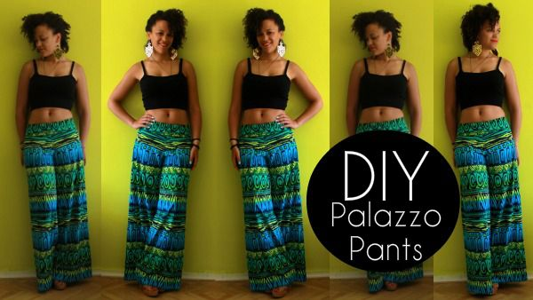 diy palazzo pants sewing for beginners 222