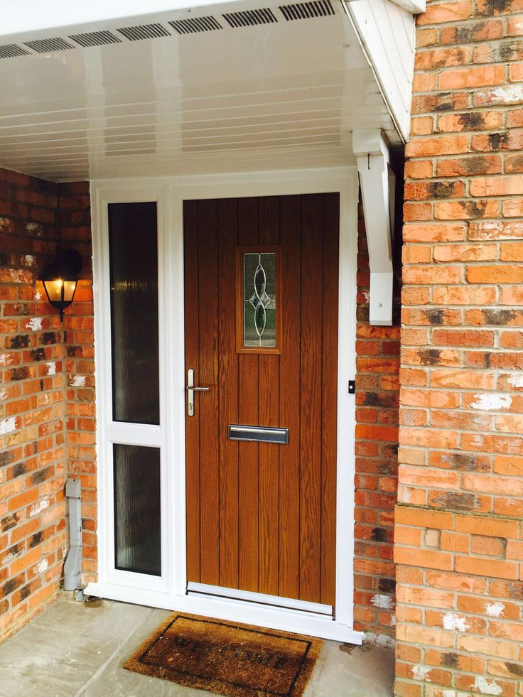 This Beautiful Oak Coloured Composite Door With Itu0027s Eye Catching Glass  Design Has Exceptional Thermal Benefits