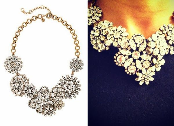 Bromeliad: My DIY J. Crew crystal flower lattice necklace