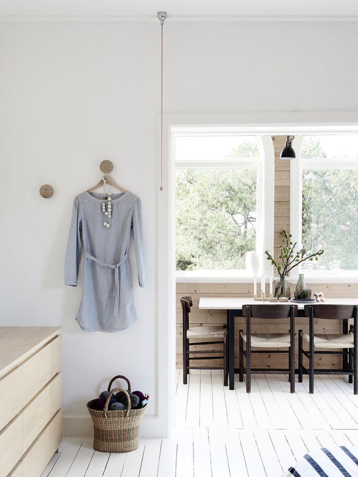 Swedish Summer House is a minimalist interior