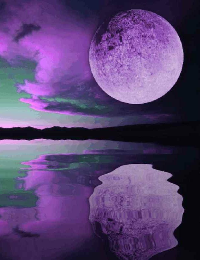 Under a purple moon purple moon sunset wallpaper a - Purple moon wallpaper ...