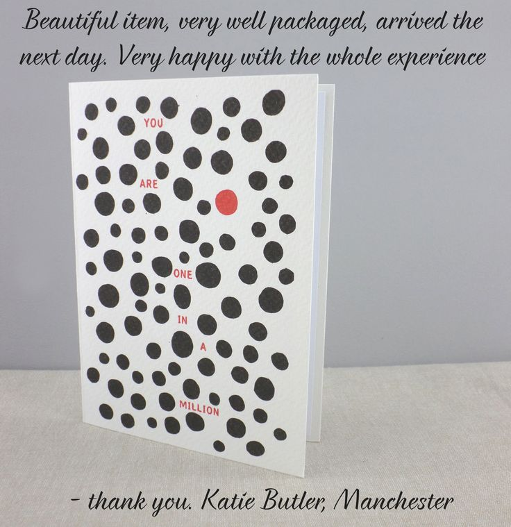 someone loved our one in a million cards #customerreviews