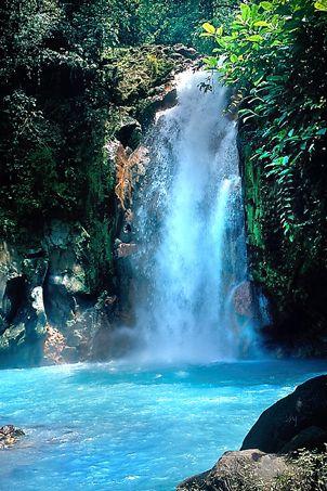 Amazing waterfall near La Carolina Lodge in northern Costa Rica.