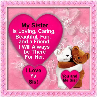 A sister is a complete package of love|care|fun|beauty| and a great friend to her Brother. Tell her on this #BrothersandSistersDay that you love her, in her way- cuddly teddy bears and her favourite pink colour Ecards only on www.123Greetings.com