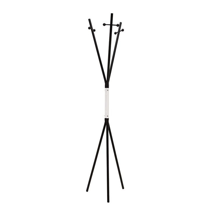 METAL COAT HANGER IN BLACK-WHITE COLOR 33X33X175 - Coat Hangers - FURNITURE