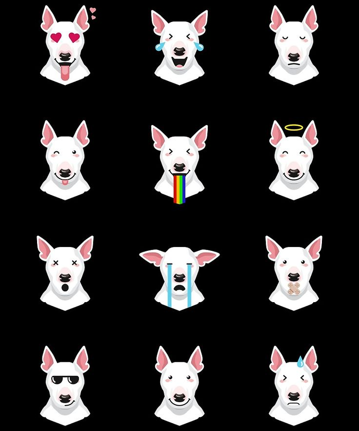 Bull Terrier Emoji by bullterrier