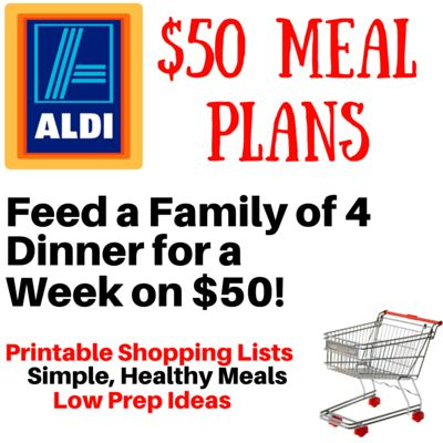 I LOVE this ALDI Meal Plan! For $50: 8 creative meals to fix on your grill - Breakfast Pizza, Campfire Potatoes, and more. No Hot dogs or hamburgers!