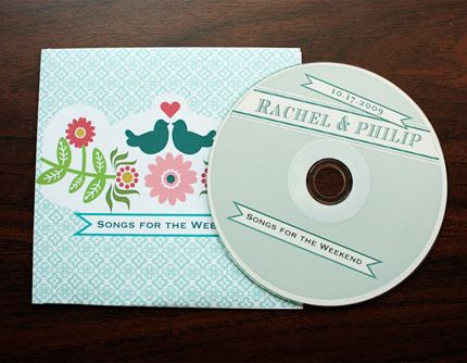 cd sleeves template freebie printables patterns wedding