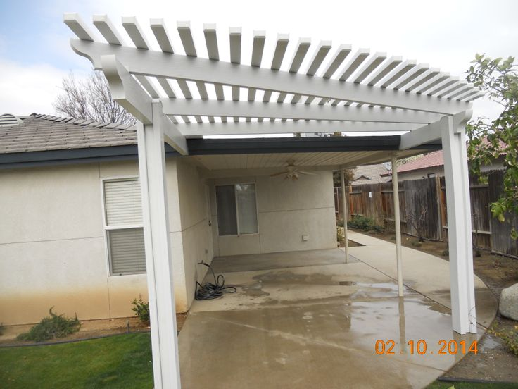 Another beautiful lattice patio cover done yours truly! Call us today at (661) 328-1292 for a FREE estimate!